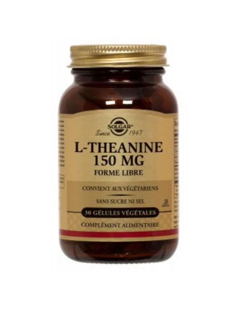 L-Théanine 150 mg - Stress mental et physique 30 gélules végétales - Solgar