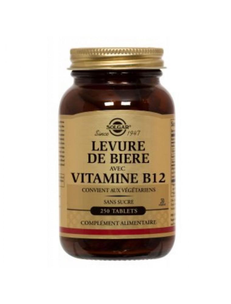 Levure de bière et vitamine B12 - Carence alimentaire, beauté de la peau, des cheveux et des ongles 250 comprimés - Solgar