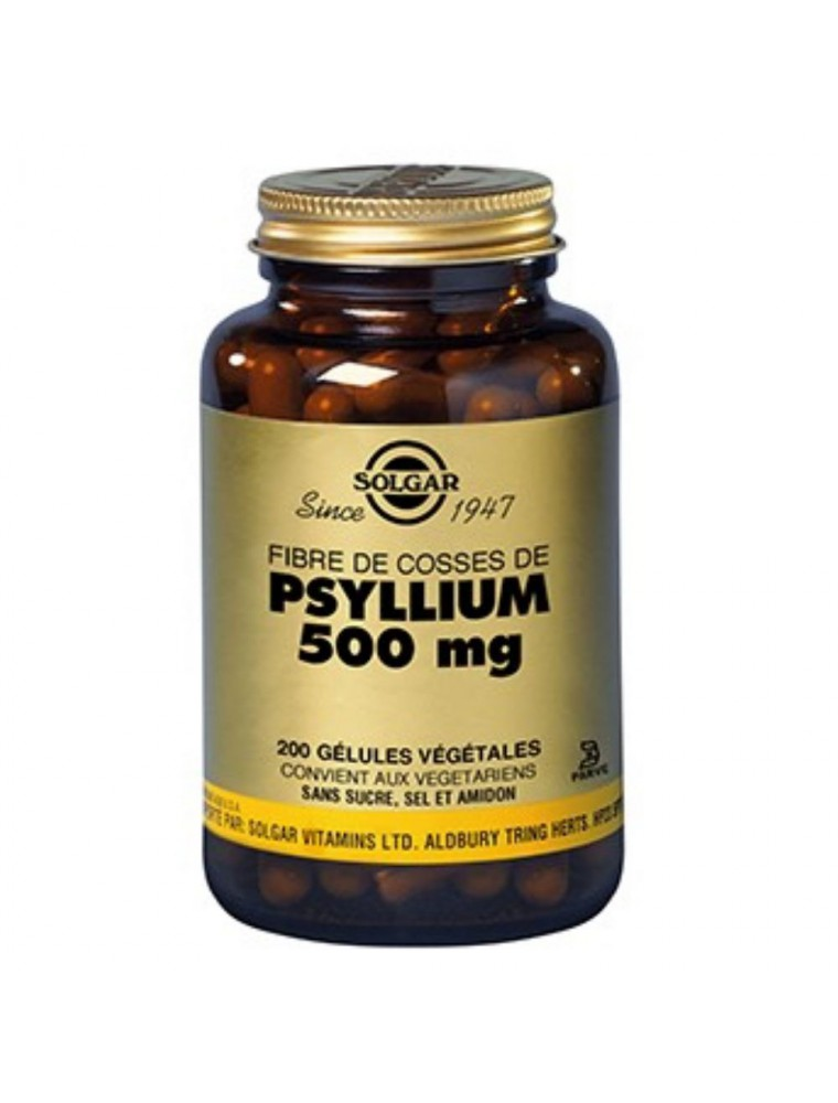 Psyllium blond - Transit et coupe-faim 200 gélules - Solgar