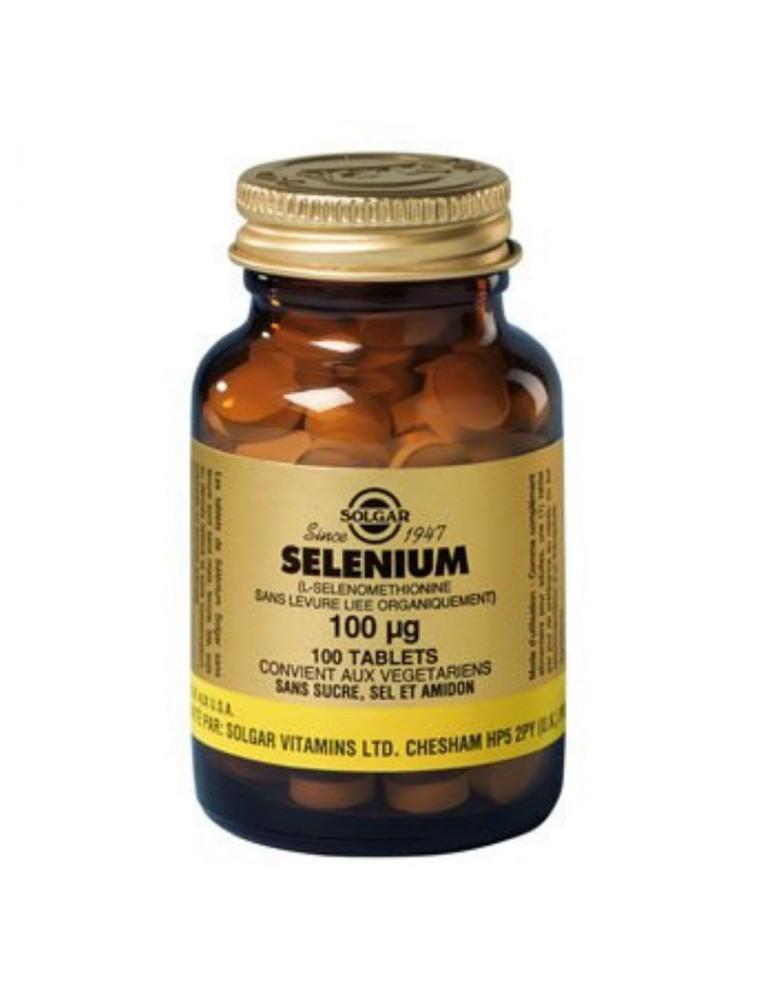 Sélénium 100 µg - Anti-oxydant et Défenses immunitaires 100 comprimés - Solgar