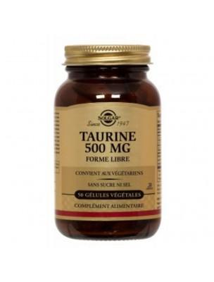 Taurine 500 mg - Stress et récupération sportive 50 gélules végétales - Solgar