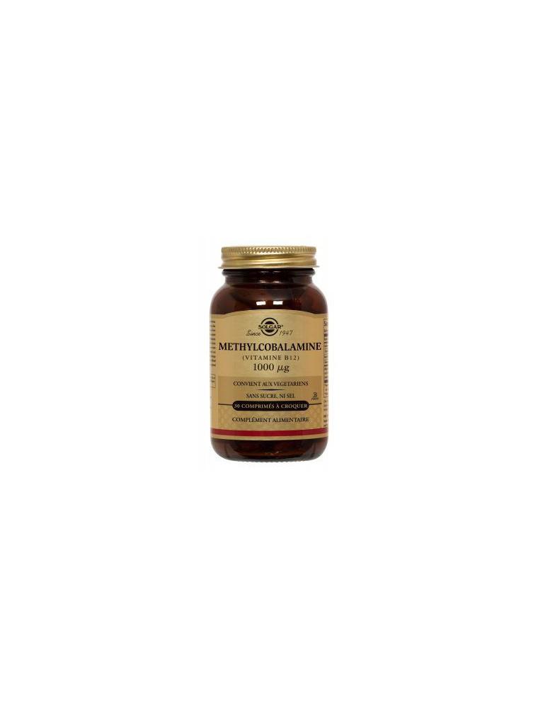 Vitamine B12 1000 µg - Fixation du fer 50 comprimés à croquer - Solgar