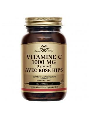 Vitamine C 1000 mg au cynorrhodon - Défenses immunitaires 100 comprimés - Solgar