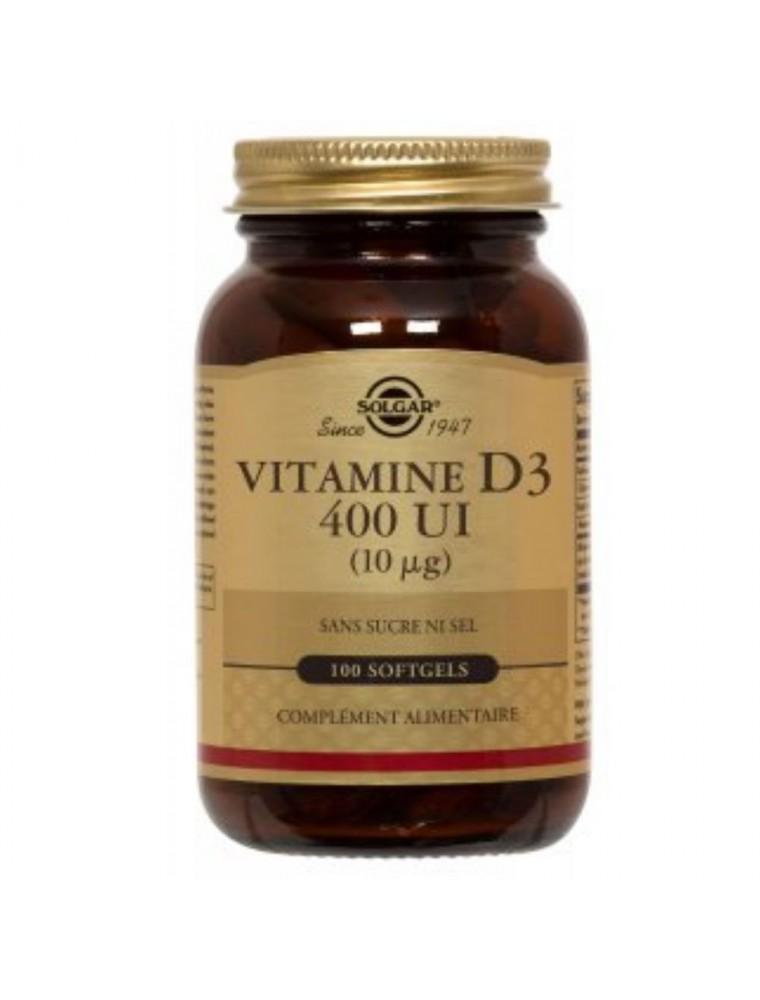Vitamine D3 400 UI - Os et défenses immunitaires 100 comprimés - Solgar