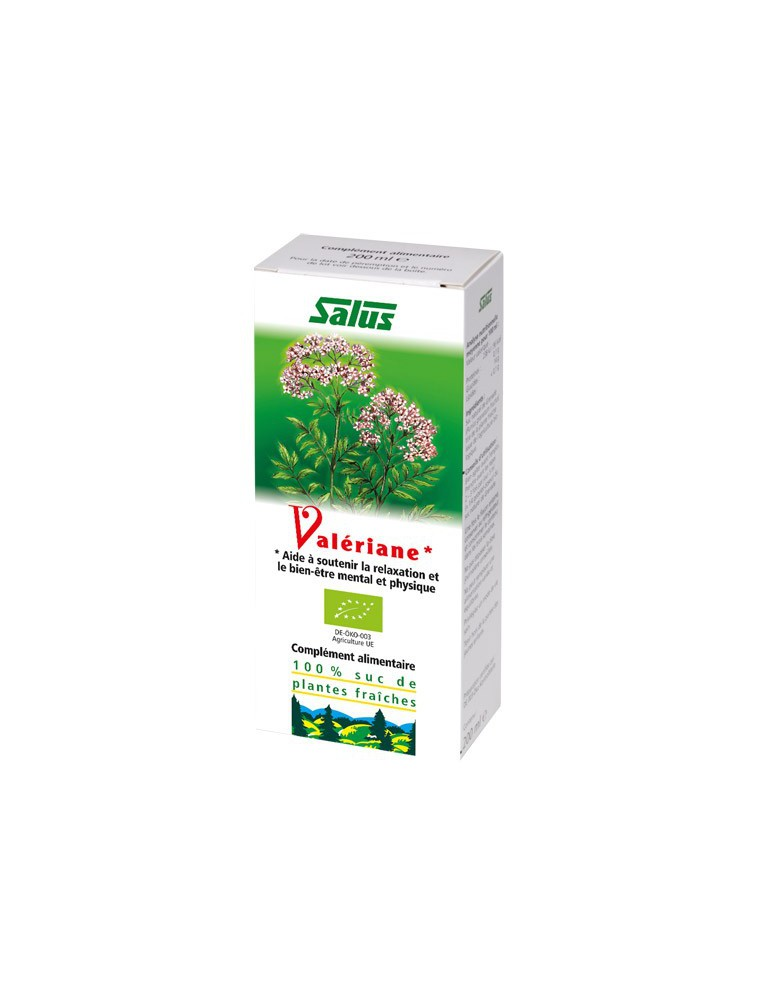 Valériane Bio - jus de plante fraîche 200 ml - Salus