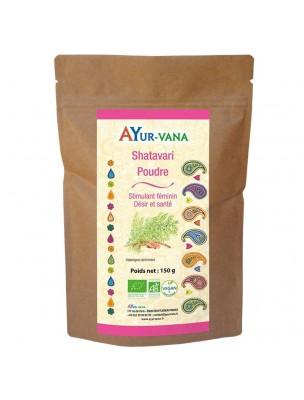 Shatavari poudre Bio - Stimulant féminin 150 grammes - Ayur-Vana
