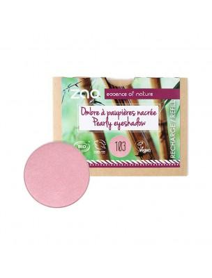 Recharge Ombre à paupières nacrée Bio - Vieux rose 103 3 grammes - Zao Make-up