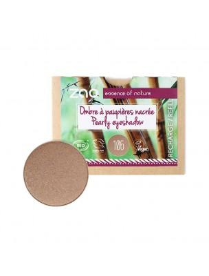 Recharge Ombre à paupières nacrée Bio - Bronze 106 3 grammes - Zao Make-up