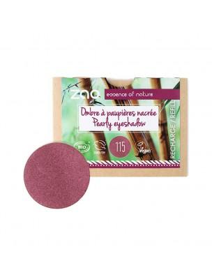 Recharge Ombre à paupières nacrée Bio - Rubis 115 3 grammes - Zao Make-up