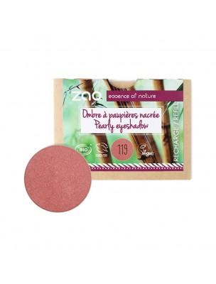 Recharge Ombre à paupières nacrée Bio - Rose corail 119 3 grammes - Zao Make-up