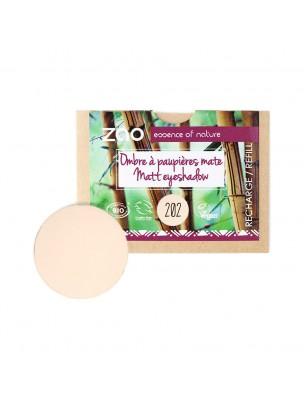 Recharge Ombre à paupières mate Bio - Brun beige 202 3 grammes - Zao Make-up