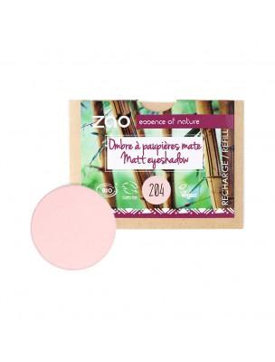 Recharge Ombre à paupières mate Bio - Vieux rose doré 204 3 grammes - Zao Make-up