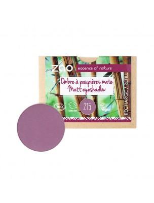 Recharge Ombre à paupières mate Bio - Violet pourpre 215 3 grammes - Zao Make-up