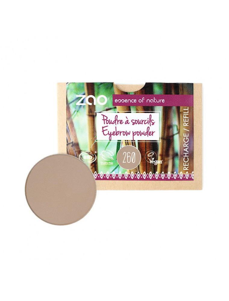 Recharge Poudre à Sourcils Bio - Blonds 260 3 grammes - Zao Make-up