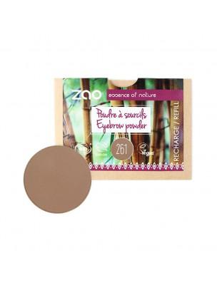 Recharge Poudre à Sourcils Bio - Blond cendré 261 3 grammes - Zao Make-up