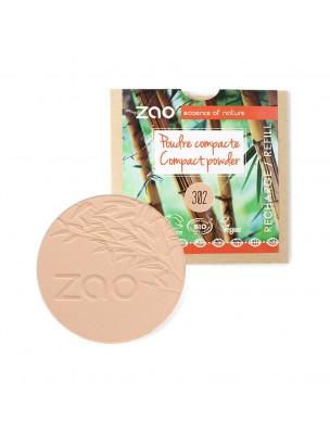 Recharge Poudre Compacte Bio - Beige orangé 302 9 grammes - Zao Make-up