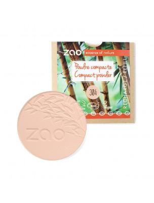 Recharge Poudre Compacte Bio - Capuccino 304 9 grammes - Zao Make-up