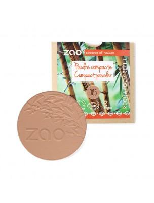 Recharge Poudre Compacte Bio - Chocolat au lait 305 9 grammes - Zao Make-up