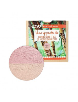 Recharge Shine-up Powder Bio Duo - Rose et Or 311 9 grammes - Zao Make-up