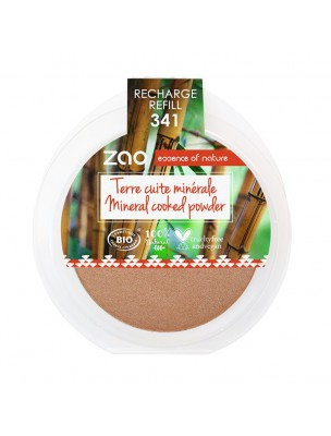 Recharge Terre cuite minérale Bio - Cuivre doré 341 15 grammes - Zao Make-up