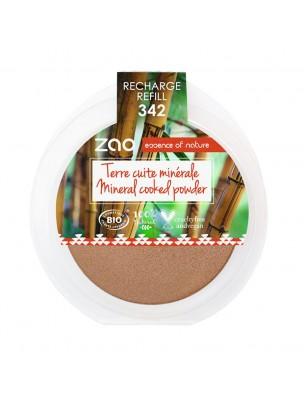 Recharge Terre cuite minérale Bio - Bronze cuivré 342 15 grammes - Zao Make-up