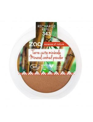 Recharge Terre cuite minérale Bio - Bronze doré 343 15 grammes - Zao Make-up