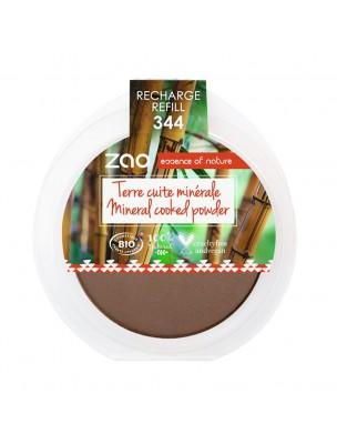 Recharge Terre cuite minérale Bio - Chocolat 344 15 grammes - Zao Make-up