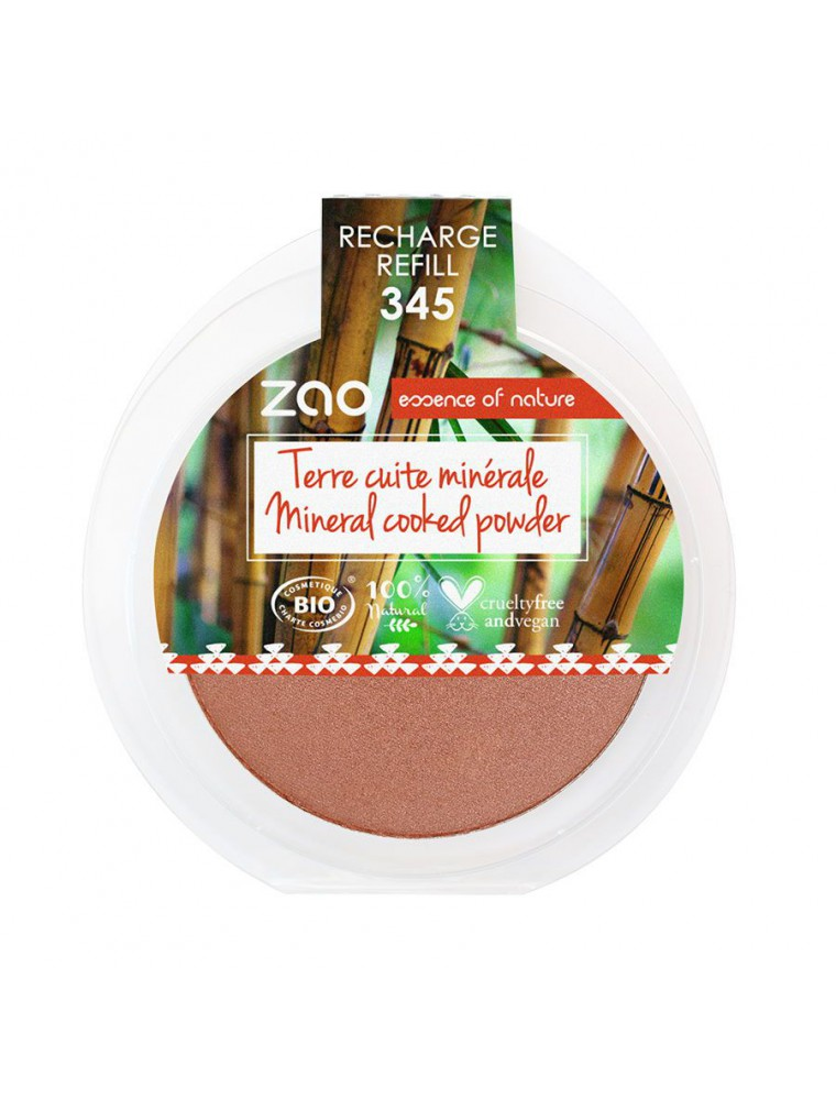 Recharge Terre cuite minérale Bio - Cuivre rouge 345 15 grammes - Zao Make-up