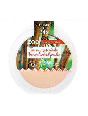 Recharge Terre cuite minérale Bio - Matifiante 346 15 grammes - Zao Make-up