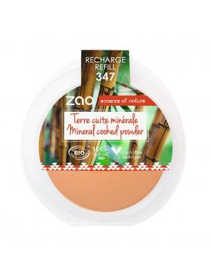 Recharge Terre cuite minérale Bio - Eclat naturel 347 15 grammes - Zao Make-up