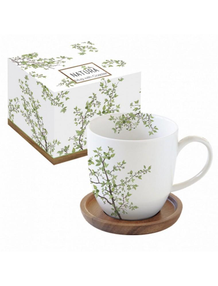 Coffret Mug Bambou en Porcelaine 35 cl