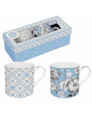 Coffret Mugs Dolce Vita Bleu en Porcelaine 30 cl
