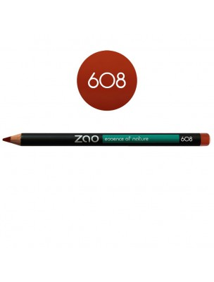 Crayon Bio - Brun orangé 608 1,14 grammes - Zao Make-up