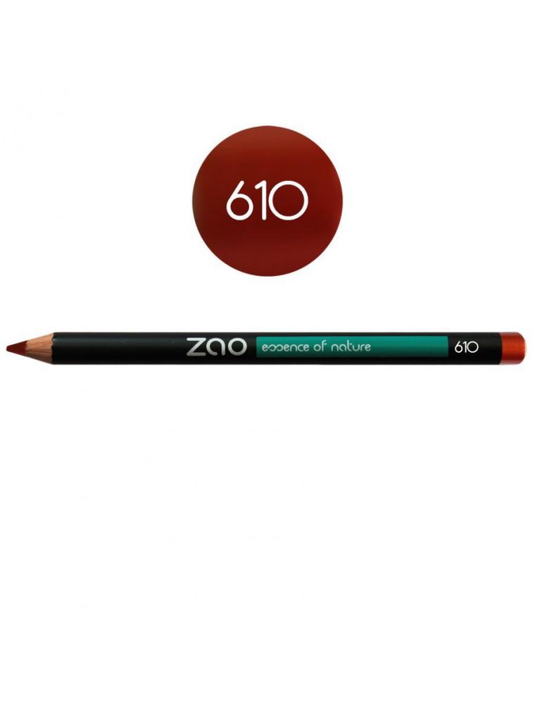 Crayon Bio - Rouge cuivré 610 1,14 grammes - Zao Make-up