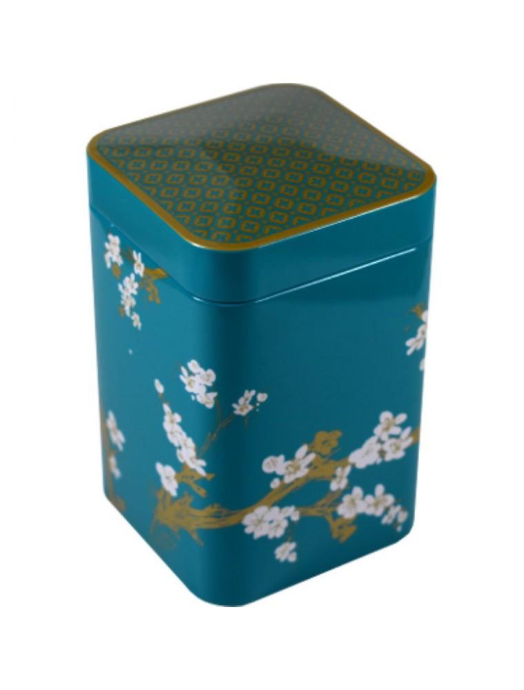 Boite à thé Cerisier Turquoise pour 100 g de thé