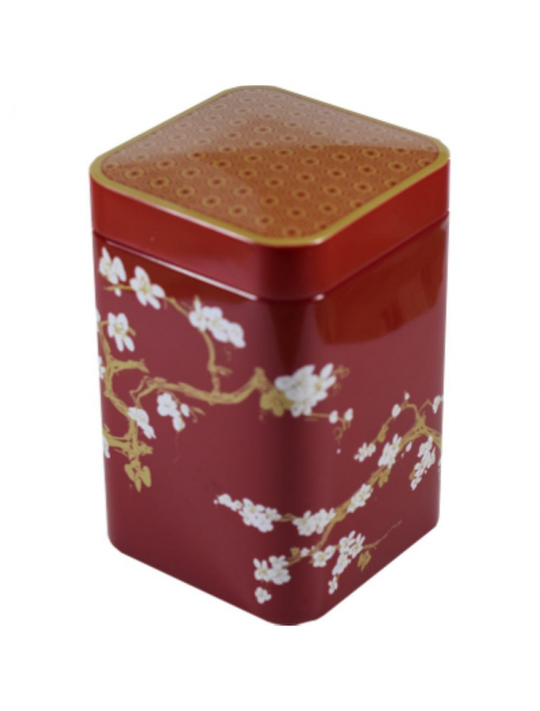 Boite à thé Cerisier Rouge  pour 100 g de thé