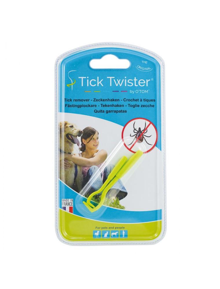 Tick Twister Crochets à tiques O'Tom verts - 2 crochets - AniBio