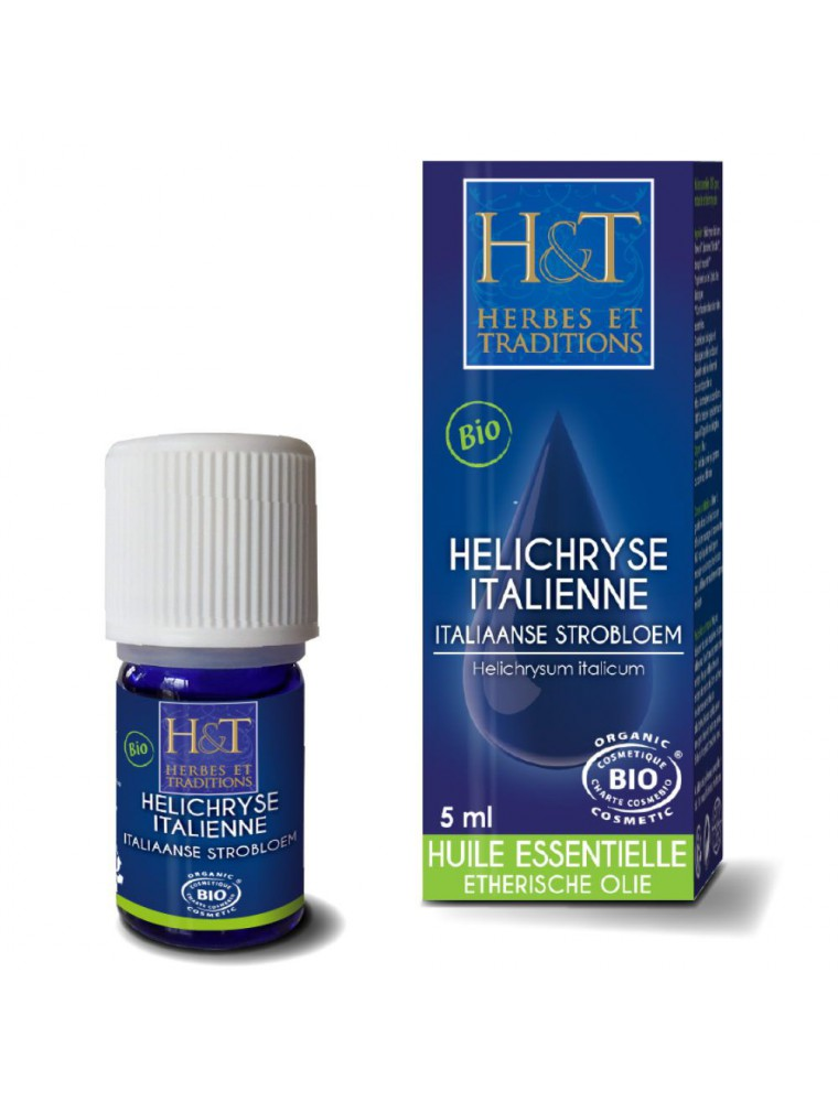 Hélichryse italienne Bio - Huile essentielle d'Helichrysum italicum 5 ml - Herbes et Traditions