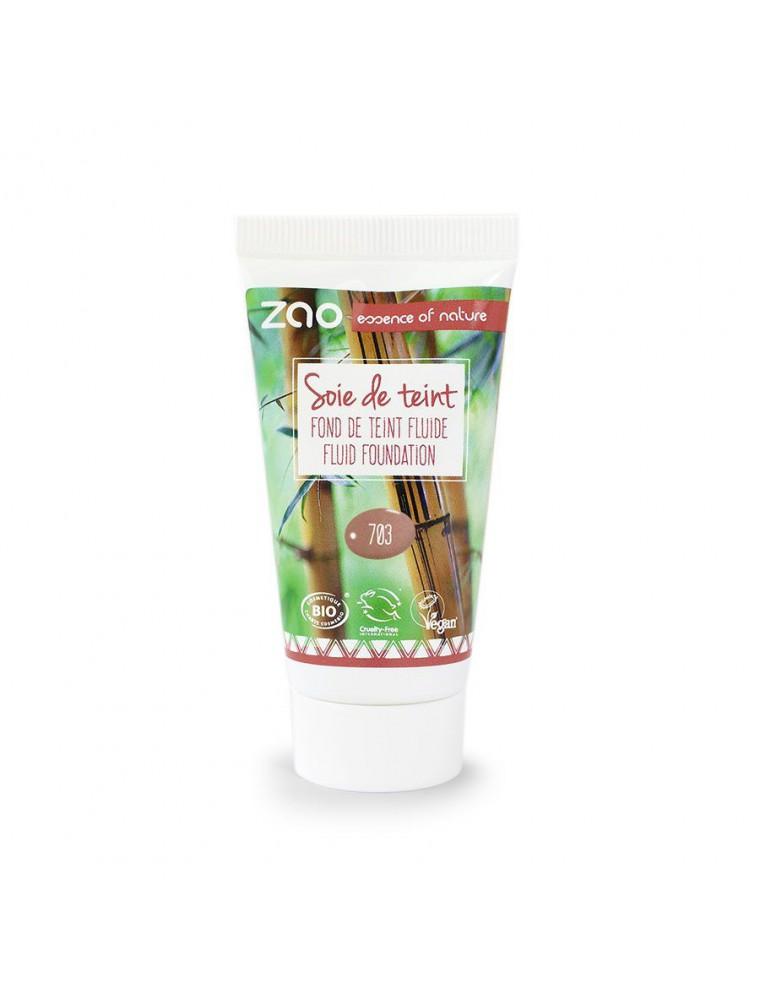 Recharge Soie de teint Bio - Pétale de rose 703 30 ml - Zao Make-up