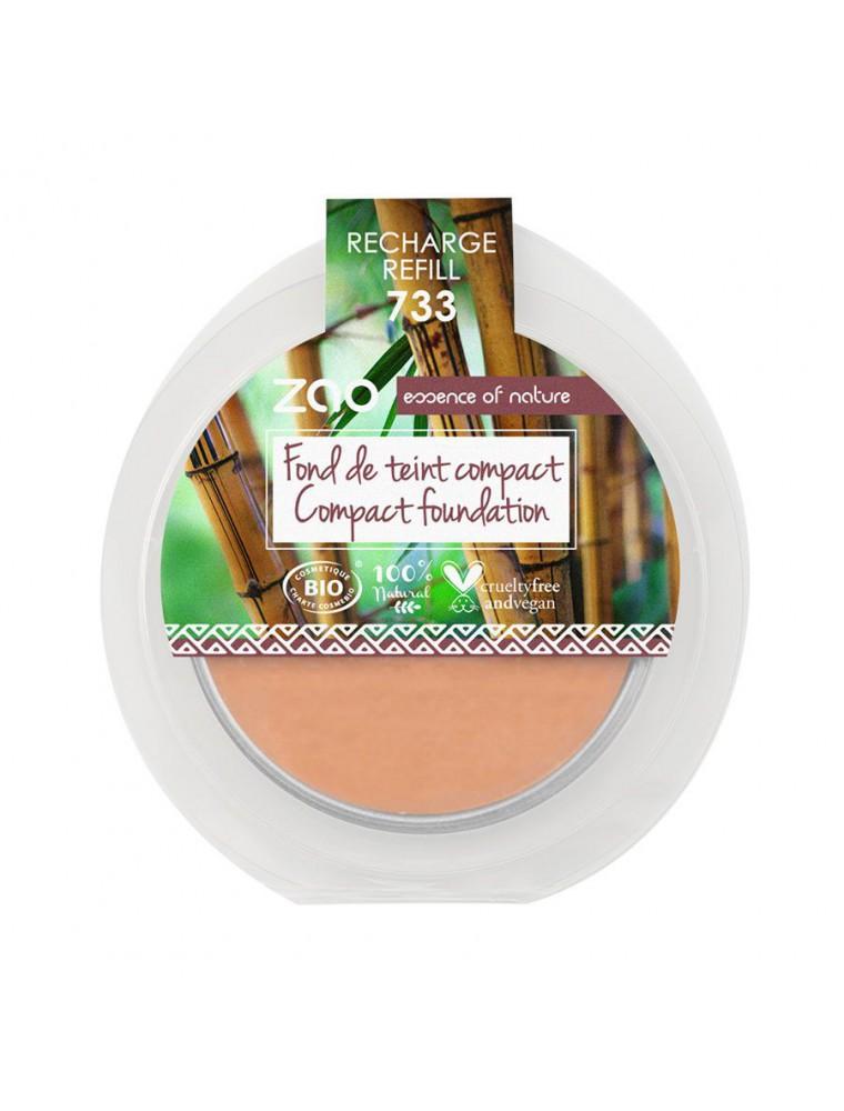 Recharge Fond de Teint Compact Bio - Neutre 733 6 grammes - Zao Make-up