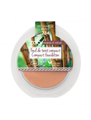 Recharge Fond de Teint Compact Bio - Capuccino 734 6 grammes - Zao Make-up
