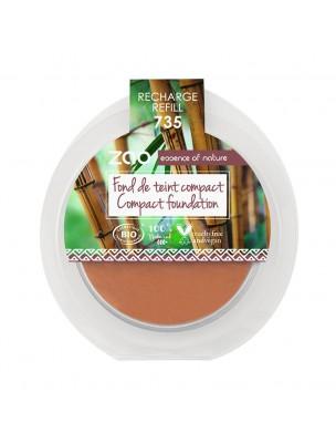 Recharge Fond de Teint Compact Bio - Chocolat 735 6 grammes - Zao Make-up
