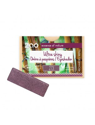 Recharge Ombre à paupières rectangle Bio - Purple rain 273 3 grammes - Zao Make-up