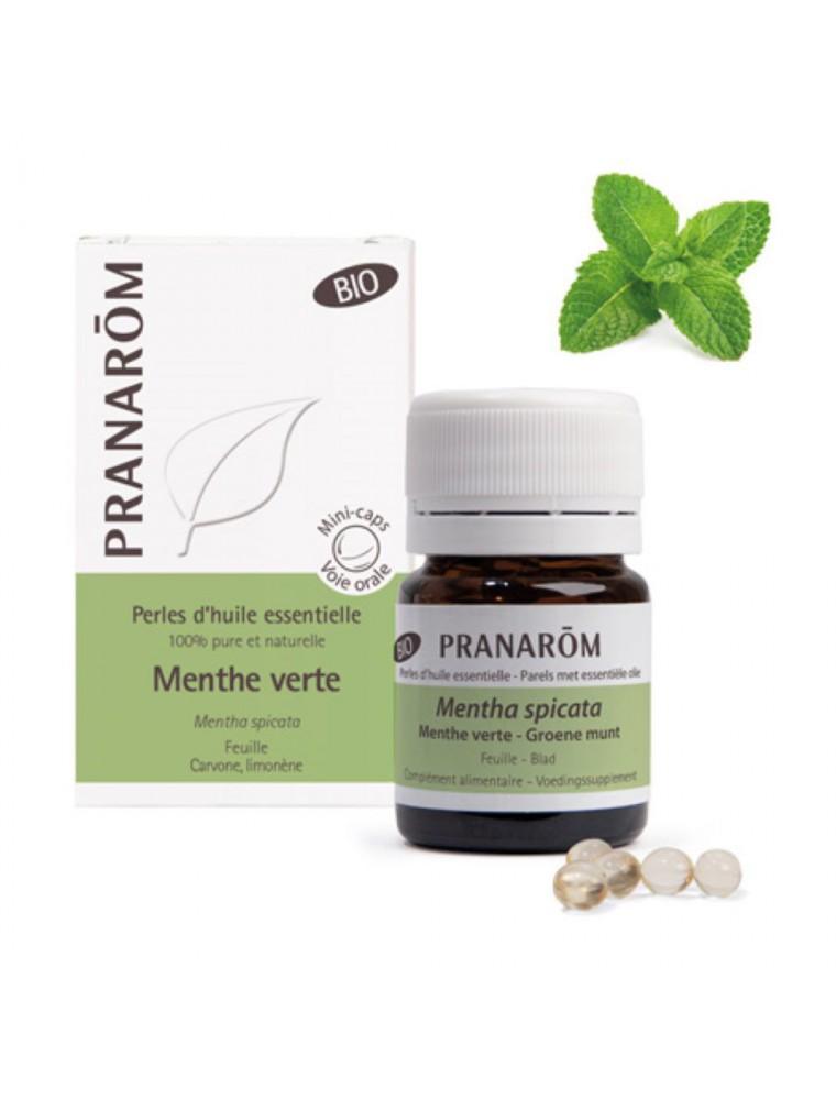 Menthe verte Bio - Perles d'huiles essentielles - Pranarôm