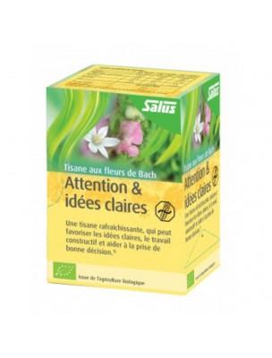 Attention et Idées claires Bio - Tisane aux Fleurs de Bach 15 sachets - Salus