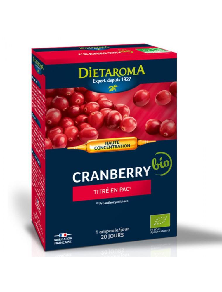 C.I.P. Cranberry Bio - Système urinaire 20 ampoules - Dietaroma