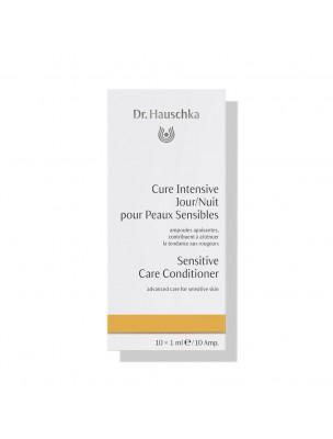 Cure Intensive Jour et Nuit pour peaux réactives - Soin du visage 10 ampoules - Dr Hauschka