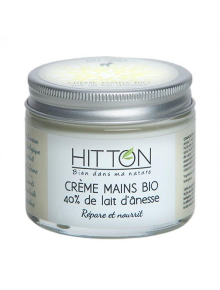 Crème Mains au Lait d'ânesse Bio - Répare et Nourrit 50 ml - Hitton