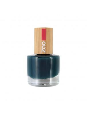 Vernis à ongles Bio - 666 bleu canard 8 ml - Zao Make-up