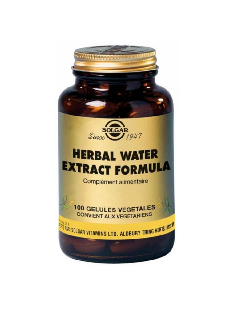 Herbal Water Formula - Equilibre rénal 100 géllules - Solgar